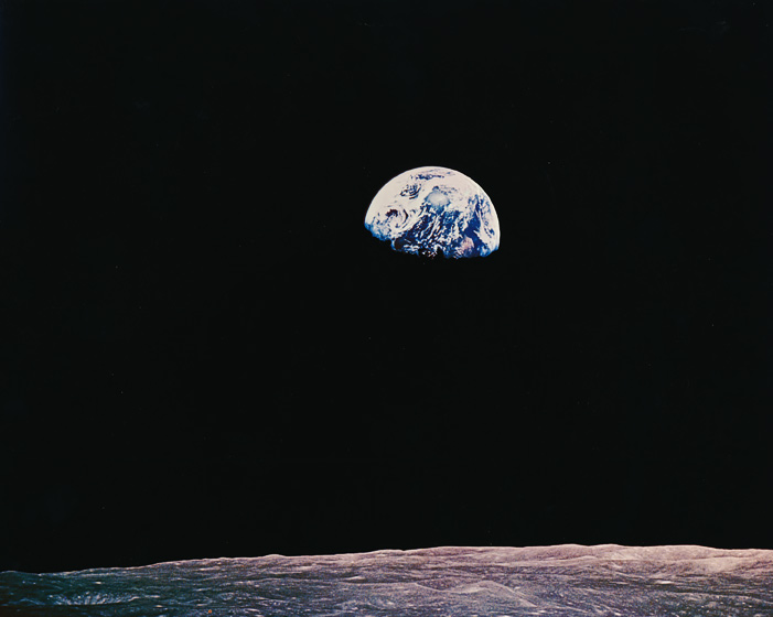 Earth rise says it all....